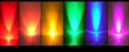 5mm GaAlInP (Amarillo, Rojo, Rojo Profundo) LEDs